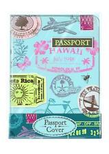 Porta Pasaporte cubierta encantadora Retro Diseño De Sello De Viaje Protector De Cartera del Reino Unido de la UE