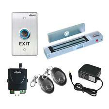 Visionis Door Entry System Mag Lock Kit With Wireless Remote And Exit Button