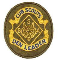 Vintage Den Leader Cub Scouts Patch Boy Scouts BSA