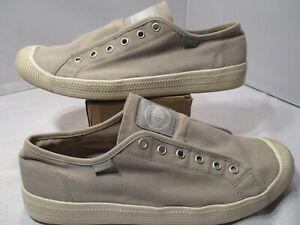 Mens Original Palladium Canvas Slip On Shoes No Laces Size 10.5 US 03386021 NICE