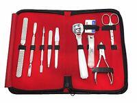 Nail Care 10 Piece Cutter Cuticle Clipper Scissor Manicure Pedicure Kit Gift Set