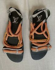 LOUIS VUITTON Men's Rope & Alligator Sandals - Size US11