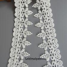 D27 - DENTELLE BLANC, Feston, Bouquet Grappe Fleur, 5 cm, multiple16 motifs 50cm