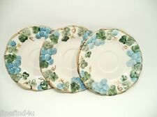 POPPYTRAIL BY METLOX SCULPTURED GRAPE EMBOSSED CALIF, USA 3 SAUCERS