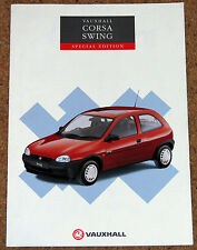 1994 VAUXHALL CORSA SWING 1.2i Sales Brochure - Special Edition Model 3dr & 5dr