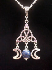 Gemstone Round Tibetan Silver Costume Necklaces & Pendants