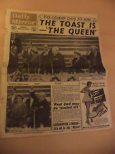 OLD VINTAGE ORIG NEWSPAPER DAILY MIRROR 28 MAY 1953 QUEEN ROYALTY CORONATION