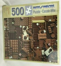 """Bits & Pieces 500 Piece Jigsaw Puzzle """"Chocolate Bliss"""" Candy 16x20 Candy Bar"""
