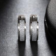 316L Stainless Steel Fashion Women Matte Gold Hoop Earrings Party Jewelry Gifts
