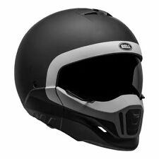 NEW Bell Broozer Cranium Motorcycle Helmet -Matte  Black/White from Moto Heaven