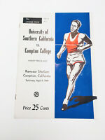 Rare Authentic 1949 USC VS Compton College Varsity Track Official Program