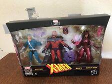 Hasbro Marvel 80th Anniversary Legends Series: X-Men - Quicksilver, Magneto et Scarlet Witch Pack de 3 Figurines (E5168)