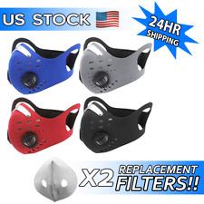 Face Mask 2 Extra Carbon Filter-Reusable Washable Neoprene Air Ventilation Port
