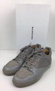 BALENCIAGA Grey Lizard Skin Scale Leather Trainers 6.5 / 40 NEW RRP: £345.00