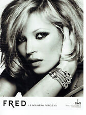 Publicité Advertising 028  2009   Fred joaillier  force 10 & Kate Moss
