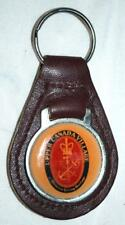 Vintage Genuine Leather Upper Canada Village Ontario's Heritage Keychain ~102