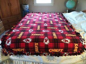 "Kansas City Chiefs""HANDMADE""XLarge/Very SOFT Anti-Pill Double Fleece Blanket."