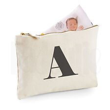 Personalised Baby Nappy Pouch/ Mini Changing Bag- 'Letter'- GIFT FOR NEW BABY