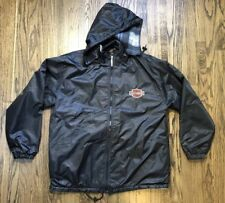Harley Davidson Mens Hoodie Fleece Riding Coat Jacket Size Large