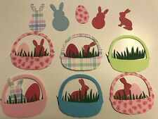 40 Easter Punch Embellishments,Baskets,Bu nnies,Eggs,For Cards Scrapbooking Craft