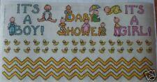 BABY SHOWER BABY BOY GIRL DUCK BATH TUB SCRAPBOOK BORDERS STICKER!!!!