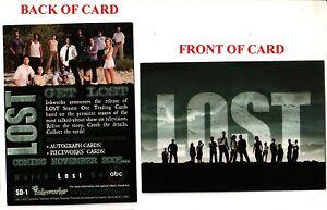 LOST Season #1 (SD-1) San Diego Comic-Con 2005 Exclusive Promo Card
