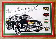 Dimi Mavropoulos Audi Quattro Castrol Rally Motorsport Sticker / Decal