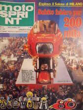 Motosprint 47 1979 Salone di Milano Benelli 654 - Guzzi 125 - Morini 250 [SC.31]