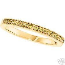 BRIDAL ANNIVERSARY BAND RING YELLOW DIAMONDS 14K GOLD