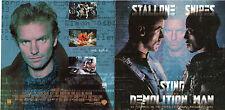 CD 6T STING B.O MOTION PICTURE DEMOLITION MAN DE 1993 ETAT NEUF
