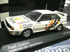 AUDI Quattro Rallye Schweden WM 1984 #2 Eklund Clarion PMA Minichamps 1:43