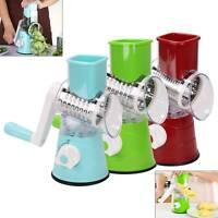 Multi-function Vegetables Fruit Cutter Manual Drum Slicer Shredders Grinder UK