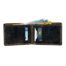 Vintage Mens Genuine Leather Wallet Slim Leather Bifold Leather Mens Wallet AU