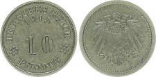 Impero Tedesco MOLTO RARE PROBE PECORA 298g2 10 PFENNIG 1915 A (F) . vz