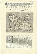 Antique maps, S. Lorenzo [Porcacchi, 1576]