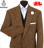 Harris Tweed Jacket Blazer Size 46R Brown Country Weave Hacking BARUTTI EDITION
