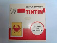 HERGE TINTIN LIVRET COMPLET DECALCOMANIES DAR LE CRABE AUX PINCES D'OR TBE