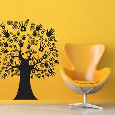 Wall Decal Sticker Vinyl Tree Branch Plant Hand Brush Palm M506
