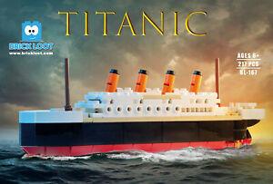 Titanic Ship Big Modular Building Brick Blocks - 217 pcs Set Kit Fits LEGO