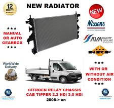 FOR CITROEN RELAY CHASSIS TIPPER PLATFORM 2.2 HDi 3.0 HDi 2006> NEW RADIATOR
