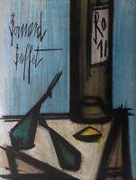 Aparador Bernard: Naturaleza Muerta Botella - Litografía Original Firmada, 1967