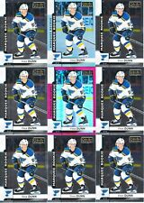 VINCE DUNN ROOKIE 9 CARD LOT 17-18 OPC PLATINUM RAINBOW RED PRISM /199 # 162 SP