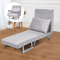 Folding Sofa Bed Sleeper Home  Convertible Lounger 5 Position w/Pillow Caesious