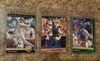 (3) Mike Piazza 1992 Upper Deck Score Ultra Rookie card lot RC HOF Dodgers