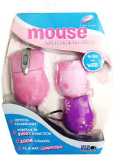 Girl Gear Mouse with 3 changing faceplates pink