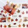 5 Sheets Nail Wasser Transfer Aufkleber Ahorn Blätter Nail Art Dekoration Kit