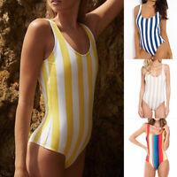 Damen Einteiliger Badeanzug String Body Bodysuit Bikini Schwimmanzug Monokini