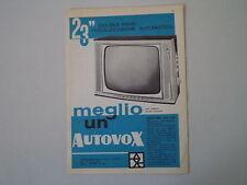 advertising Pubblicità 1961 TELEVISORE AUTOVOX 891 23''