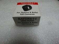 Made in India Bayonet - 1 Plastic Lens Hood for Yashica 635/124 G & Rollei 3.5.