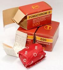 3 rolls FOMACHROM-II D20 FOMA 135-36 35mm NEGATIVE FILM ISO 80 Expired Lomo